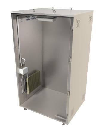 Приборный шкаф ЭкоТерм однодверный с обогревателем и светильником