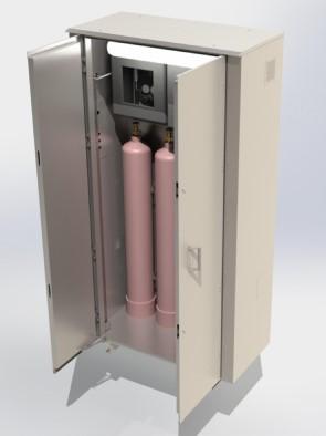 Шкаф ЭкоТерм из нержавеющей стали для баллонов и станции редуцирования